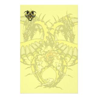 Golden Smoke Dragonheart Stationery