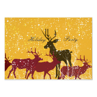 Golden Snow Animal Nature Holiday Card