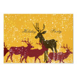 Golden Snow Animal Nature Holiday 5x7 Paper Invitation Card