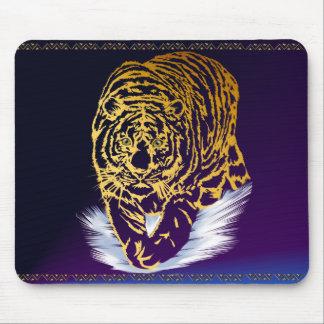 Golden Snow Tiger Mousepad