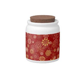 Golden Snowflake Candy Jar