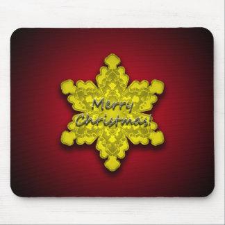 Golden Snowflake - Christmas Mousepad