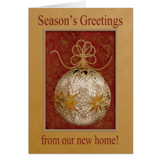 Golden Snowflake Ornament, Season's Greetings from Cards