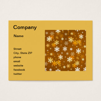Golden Snowflakes Business Card