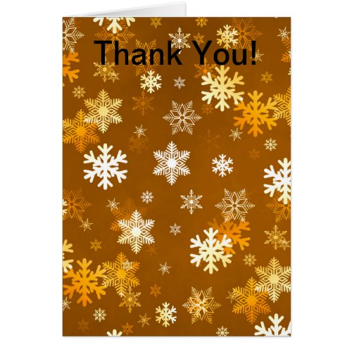 Golden Snowflakes Card Sales 8329