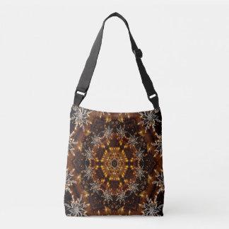 Golden Snowflakes Kaleidoscope Crossbody Bag