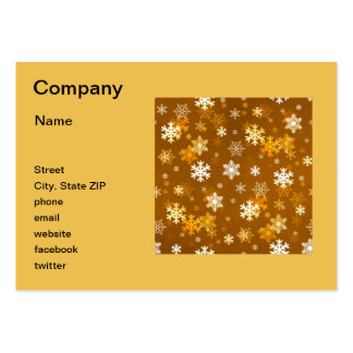 Golden Snowflakes Large Business Card