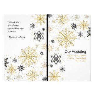 Golden Snowflakes Winter Wedding Programs