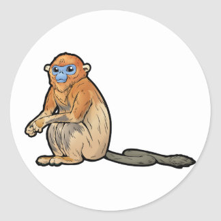 Golden Snub-Nosed Monkey Classic Round Sticker
