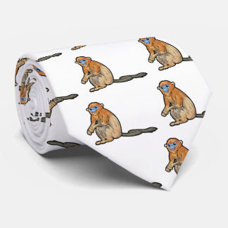 Golden Snub-Nosed Monkey Neck Tie