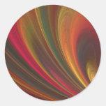 Golden Soft Sand Waves Classic Round Sticker