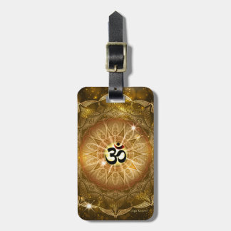 Golden Sound of Om Luggage Tag