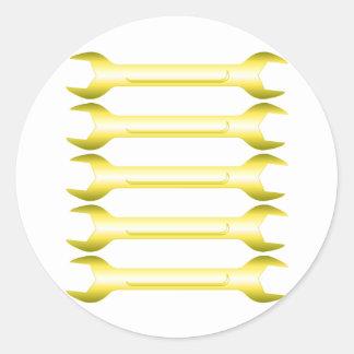 Golden Spanners Classic Round Sticker