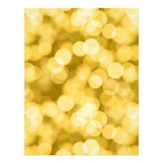 Golden Sparkle Bokeh Dots Flyer