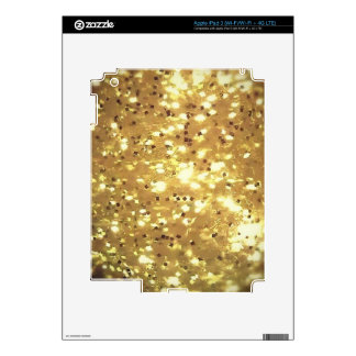 golden sparkle decal for iPad 3