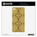 Golden Sparkle JEWEL Print Decals For The iPhone 4