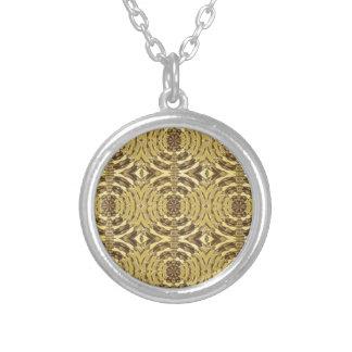 Golden Sparkle JEWEL Print Personalized Necklace
