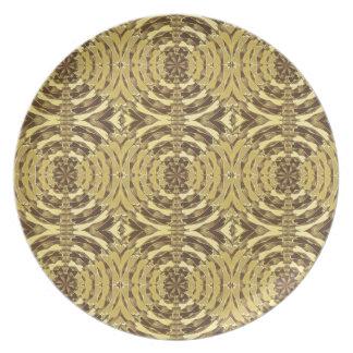 Golden Sparkle JEWEL Print Party Plate