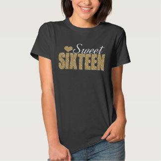 Golden Sparkle Sweet 16 T-shirt