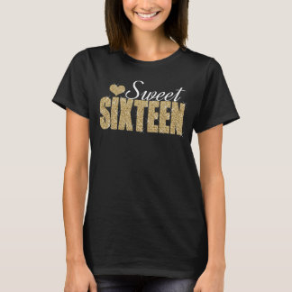 Golden Sparkle Sweet 16 T-Shirt