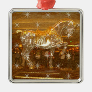 Golden Sparkly Horse Trophy Ornaments
