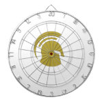 Golden Spartan Rob Donker Personal Training Dartboard With Darts