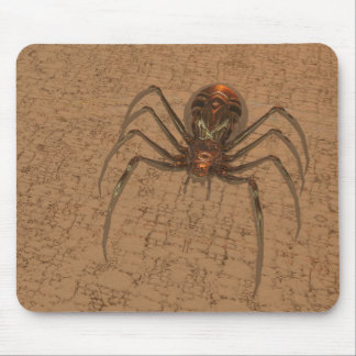 Golden Spider Mouse Pad