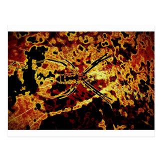 golden spider postcard