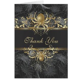 Golden Spider Thank You Wedding  Card