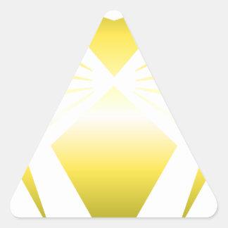 Golden Spider Triangle Sticker