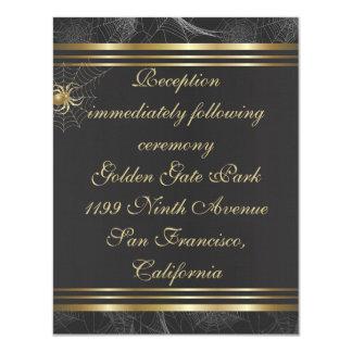 "Golden Spiders Reception Insert Card 4.25"" X 5.5"" Invitation Card"