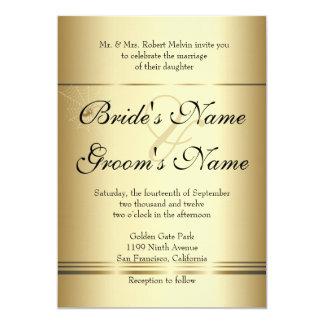 "Golden SPiders Wedding Invitation 5"" X 7"" Invitation Card"