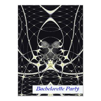 Golden Spiderweb  Personalized Invitation