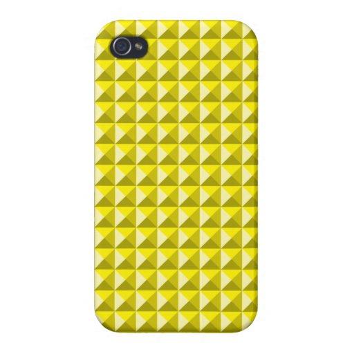 Golden Spike Pattern iPhone 4 Case