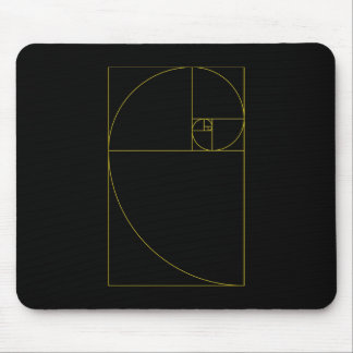 Golden Spiral Sacred Geometry Mouse Pad