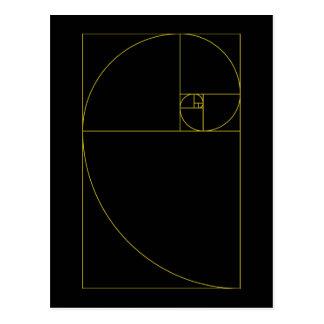 Golden Spiral Sacred Geometry Postcard