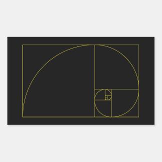 Golden Spiral Sacred Geometry Rectangular Sticker