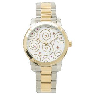golden spiral wrist watches