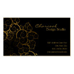 Golden Spirals Leaves Ornamental Deco Vintage Chic Business Card Template