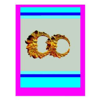 Golden Spirt Moons by Sharles Postcard