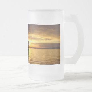 Golden Splash Frosted Mug