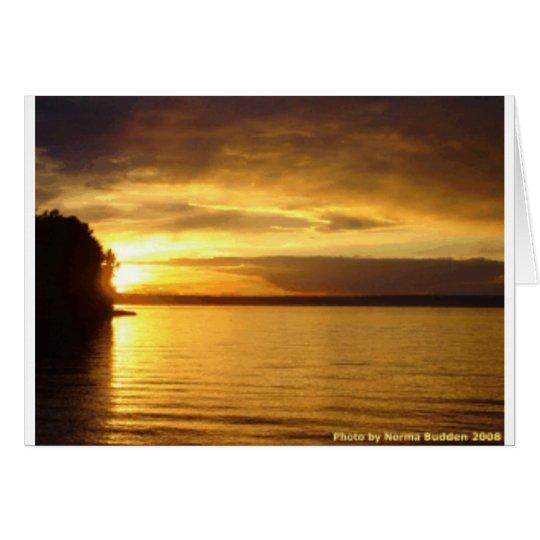 Golden Splash Notecard