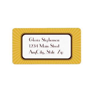 Golden Spring Rays Address Labels