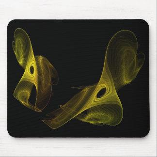 golden spun fractal mouse pad