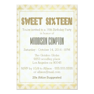 Golden Square Stars Pattern, Sweet Sixteen Card