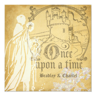 Golden Squared Once Upon a Time Invitation