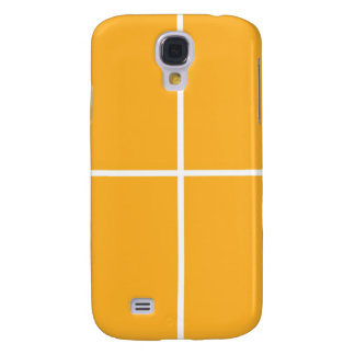 GOLDEN Squares: Blanc GREETINGS BLESSING lowprice Galaxy S4 Case