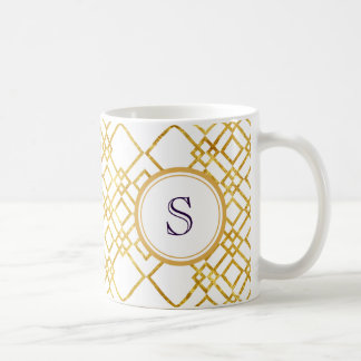 Golden Squares | Customized Background Color Coffee Mug
