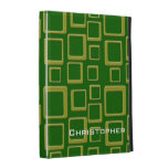 Golden Squares on Gren iPad Case Template