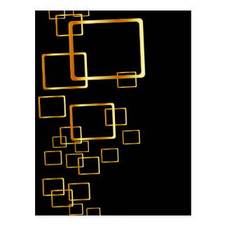 golden squares postcard
